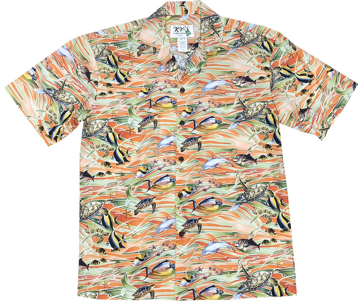 Tropicana Sea Life Orange Hawaiian Shirt