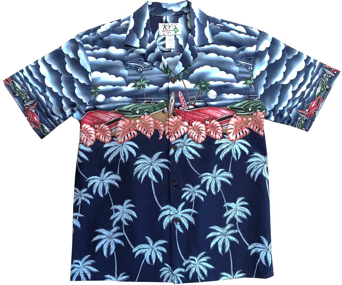 Random Beach Dream Navy Hawaiian Shirt