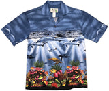 Reef Blue Hawaiian Shirt
