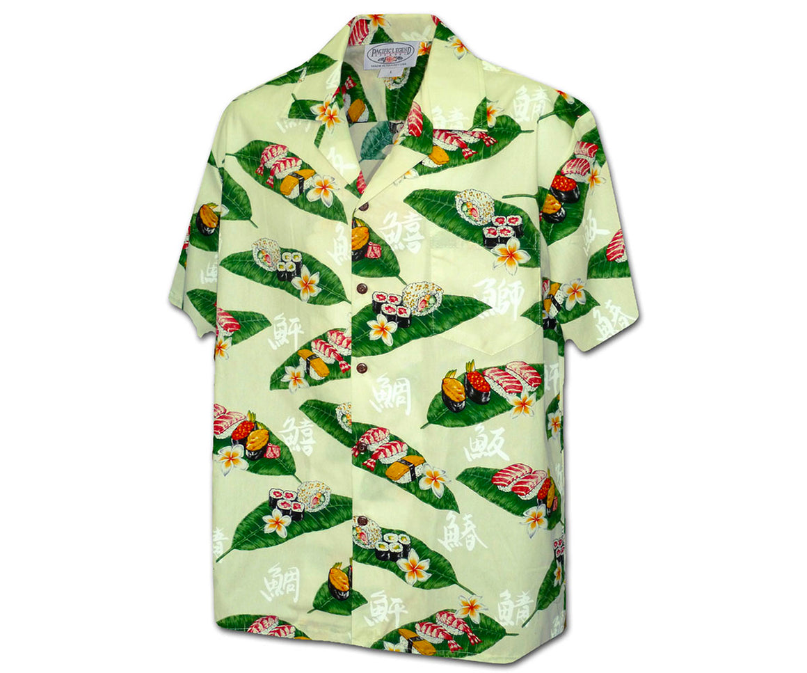 Mr. Sushi White Hawaiian Shirt