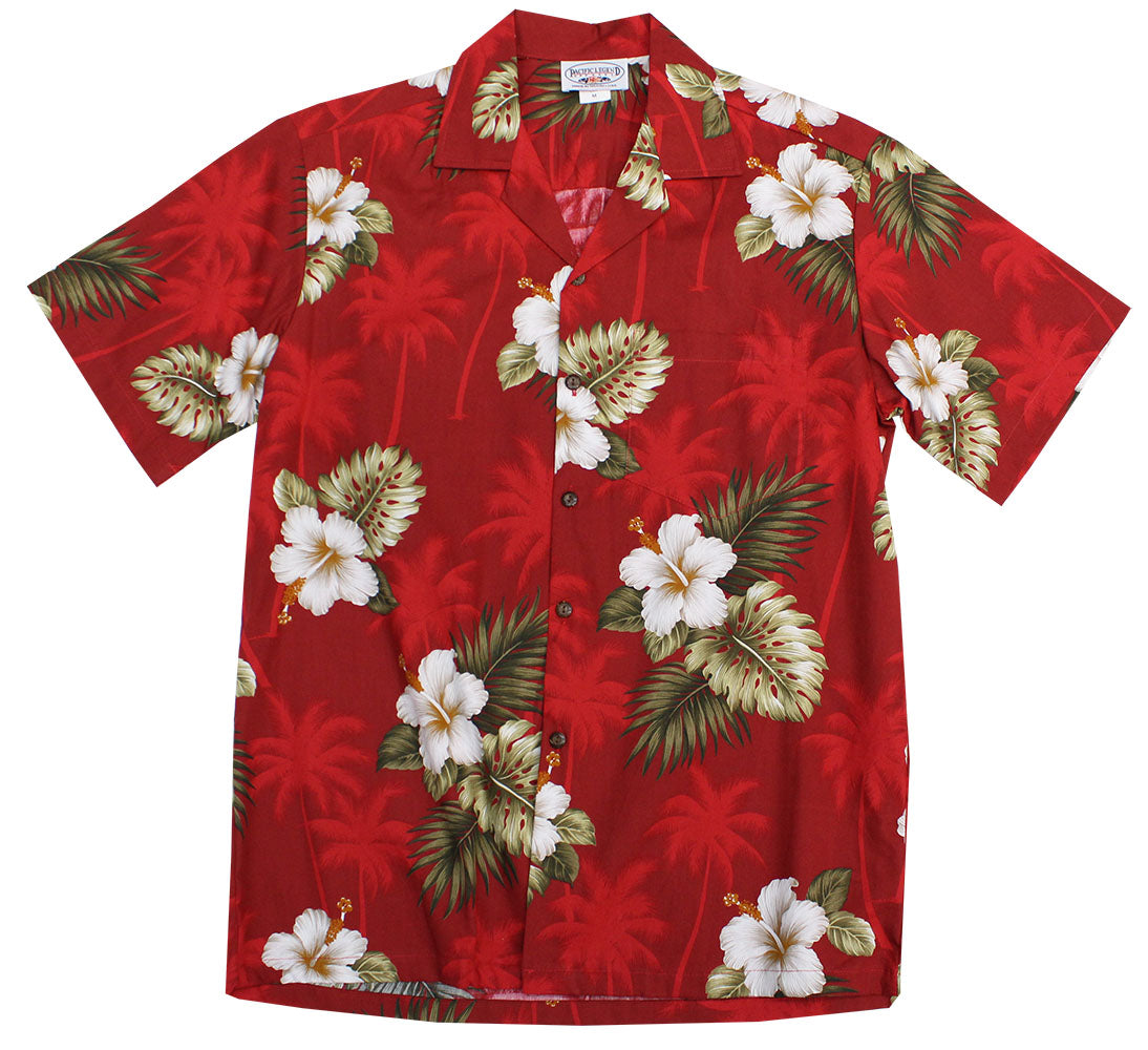 Kilauea Hibiscus Red Hawaiian Shirt