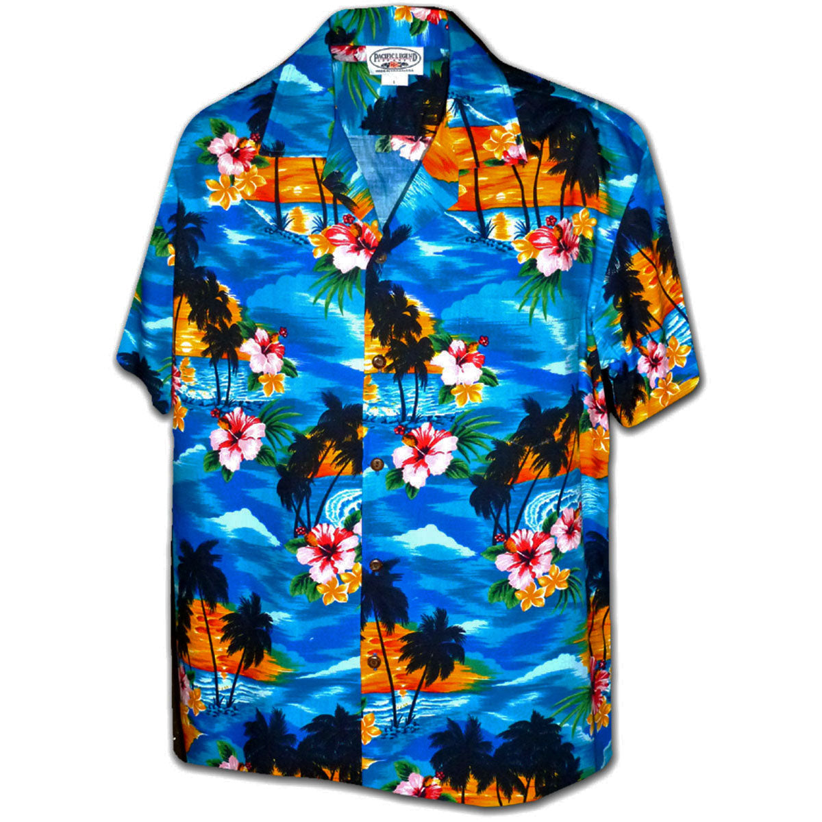 Searing Sunset Blue Hawaiian Shirt