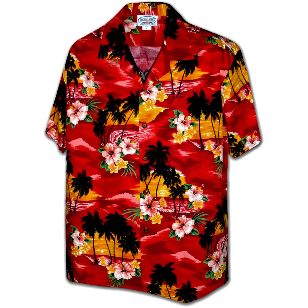 Searing Sunset Red Hawaiian Shirt