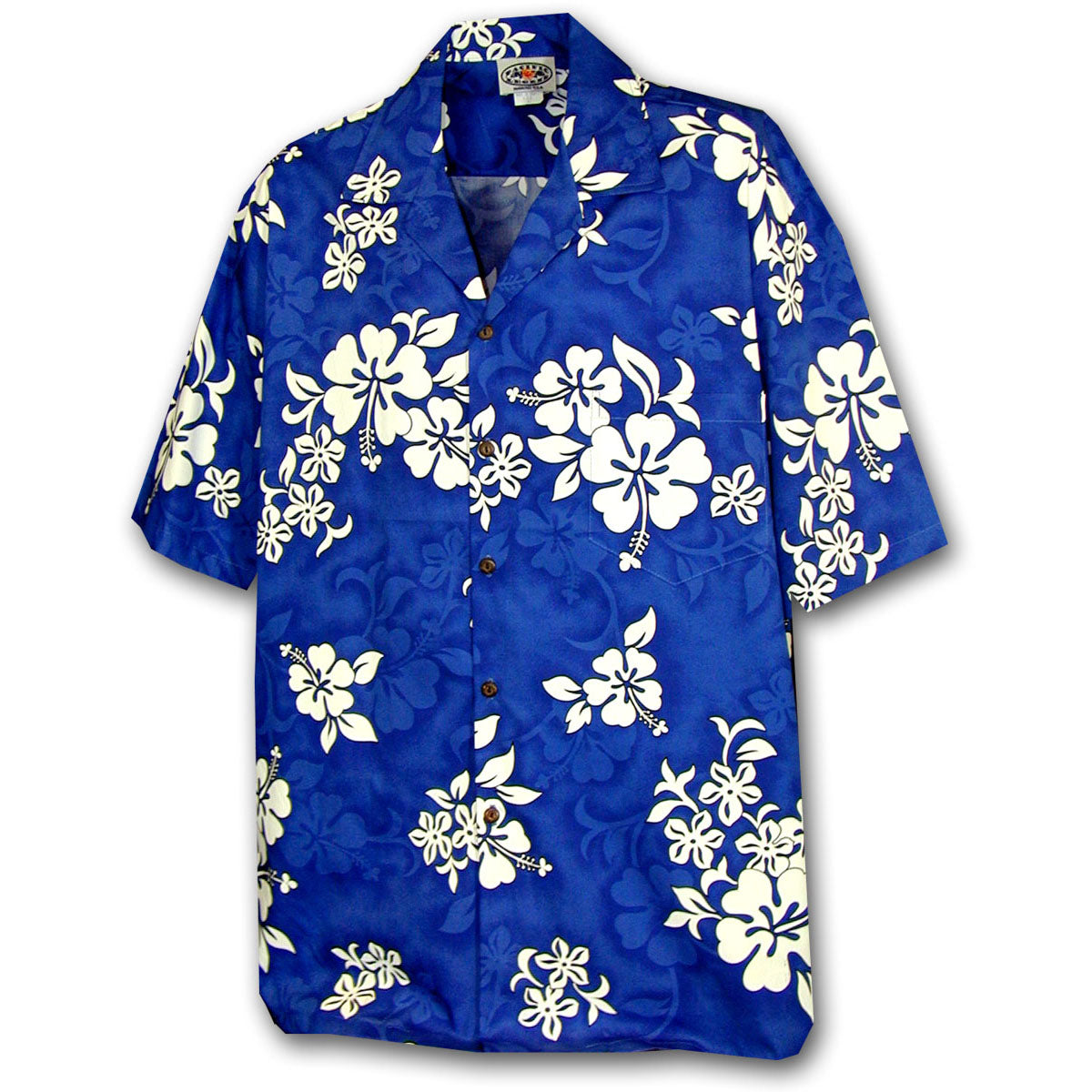 Bright Flower Blue Hawaiian Shirt