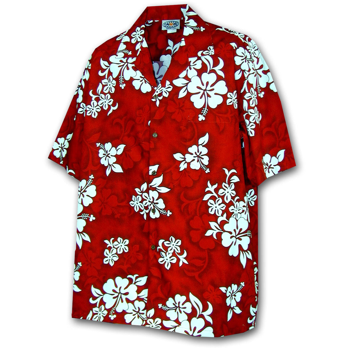 Bright Flower Red Hawaiian Shirt
