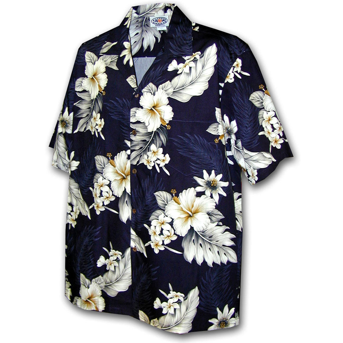Luau Garden Navy Hawaiian Shirt