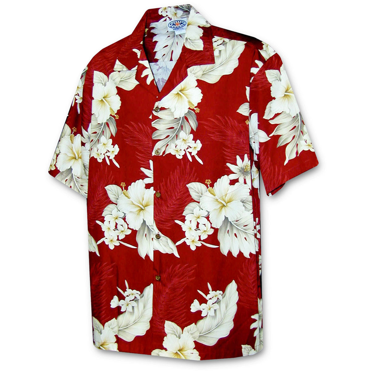 Luau Garden Red Hawaiian Shirt