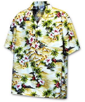 Diamond Head Coast Maize Hawaiian Shirt