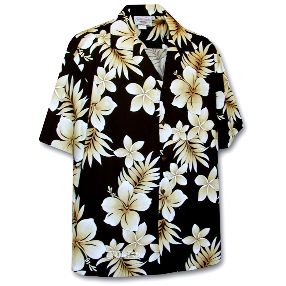 Tropic Hibiscus Black Hawaiian Shirt