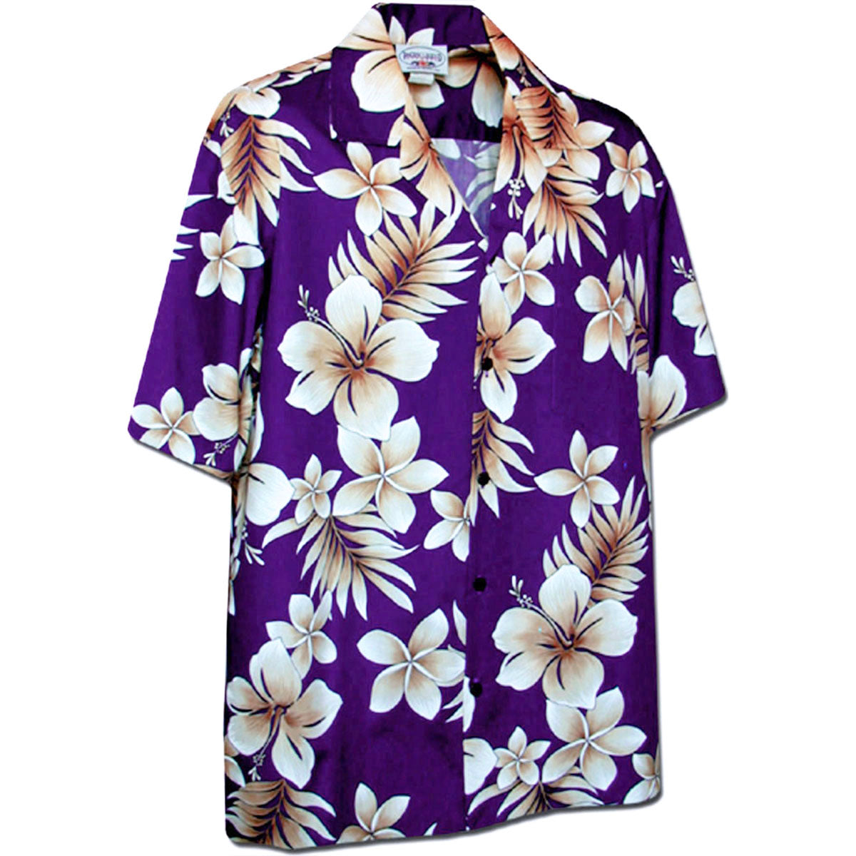 Tropic Hibiscus Purple Hawaiian Shirt