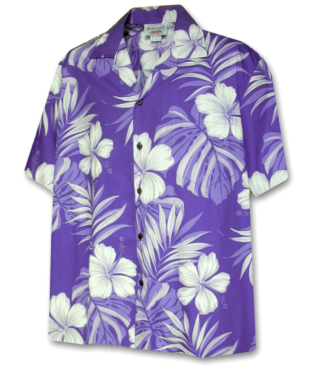 Super Hibiscus Purple Hawaiian Shirt