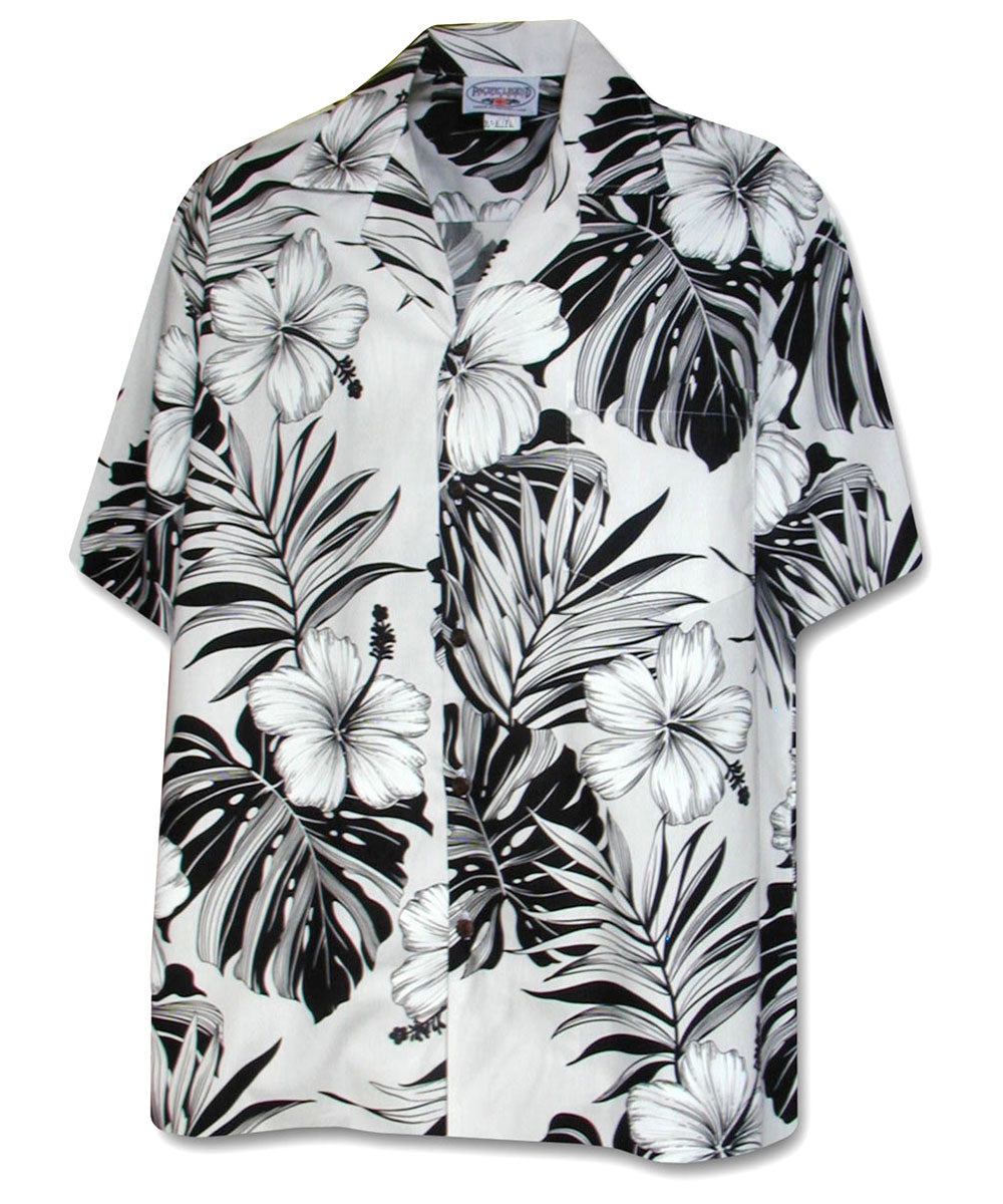 Super Hibiscus White Hawaiian Shirt