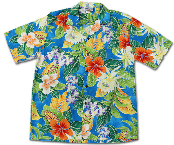 Rumble in the Jungle Blue Hawaiian Shirt