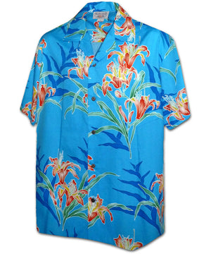 Lily Tropicana Blue Hawaiian Shirt