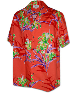 Lily Tropicana Coral Hawaiian Shirt
