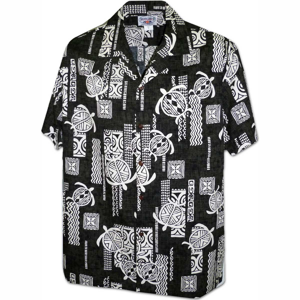 Turtle Tattoo Black Hawaiian Shirt