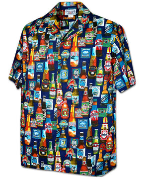 Beer Fest Navy Hawaiian Shirt