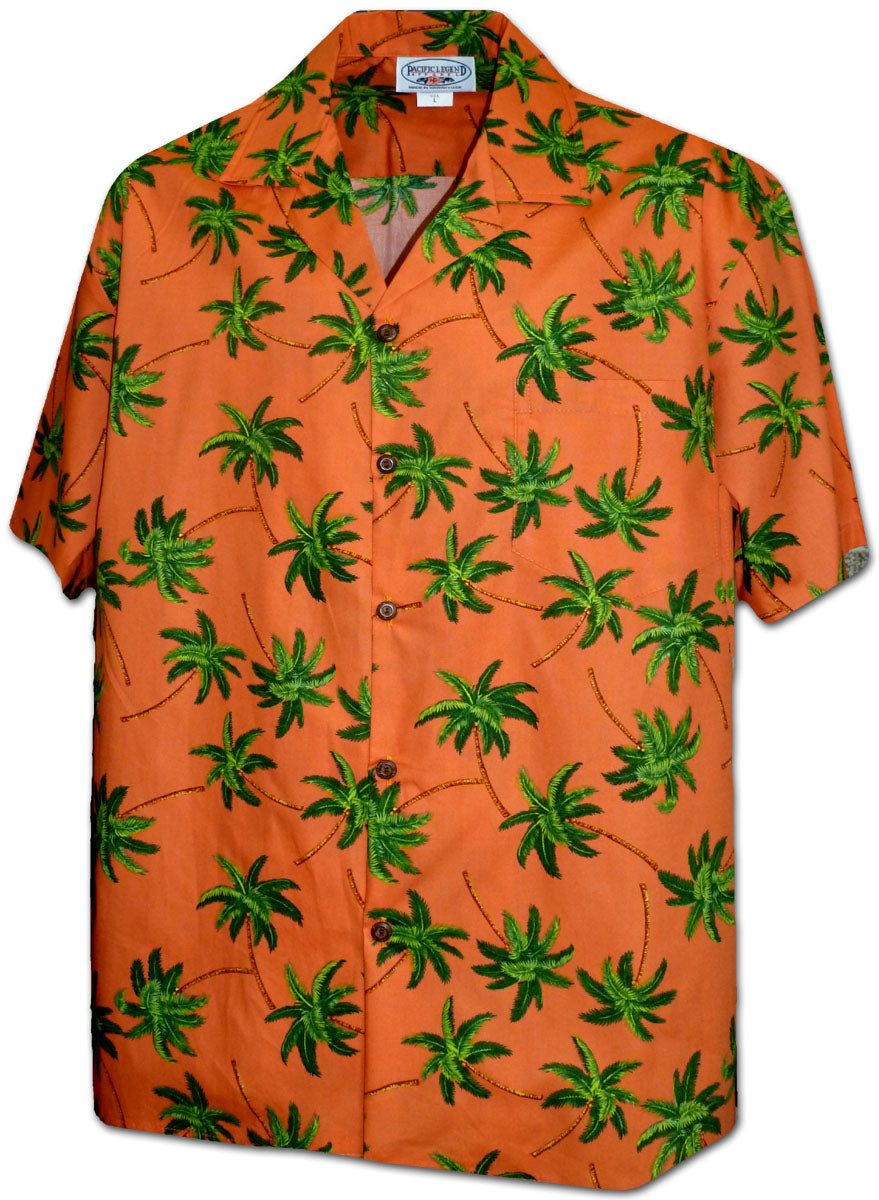 Windy Palms Orange Hawaiian Shirt