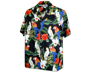 Parrot-vs-Parrot-Black-Hawaiian-Shirt