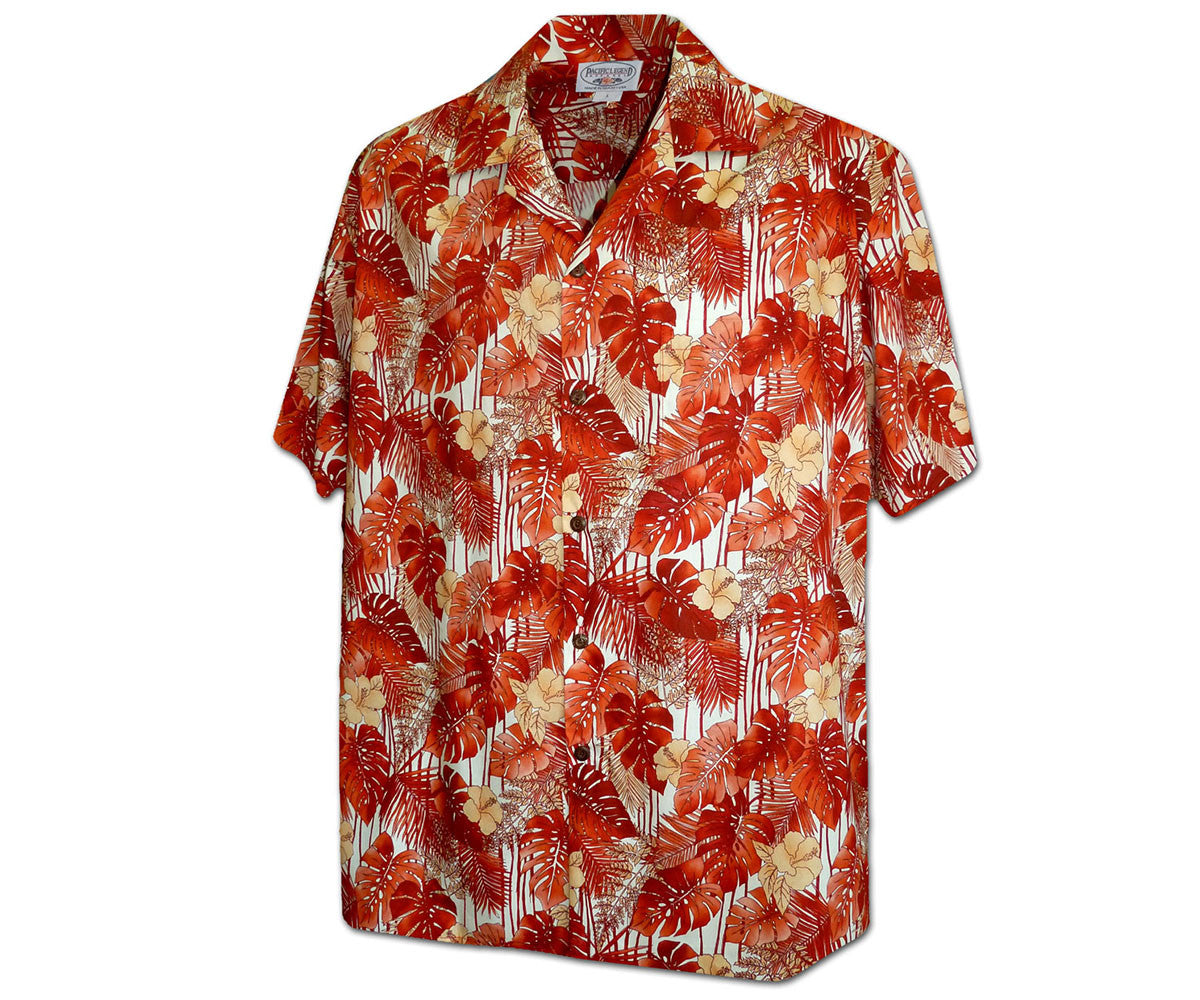 Paradise Blast Orange Hawaiian Shirt