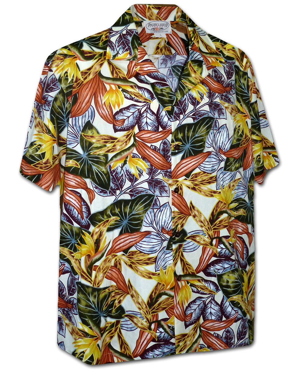 Tropical Heat Cream Hawaiian Shirt