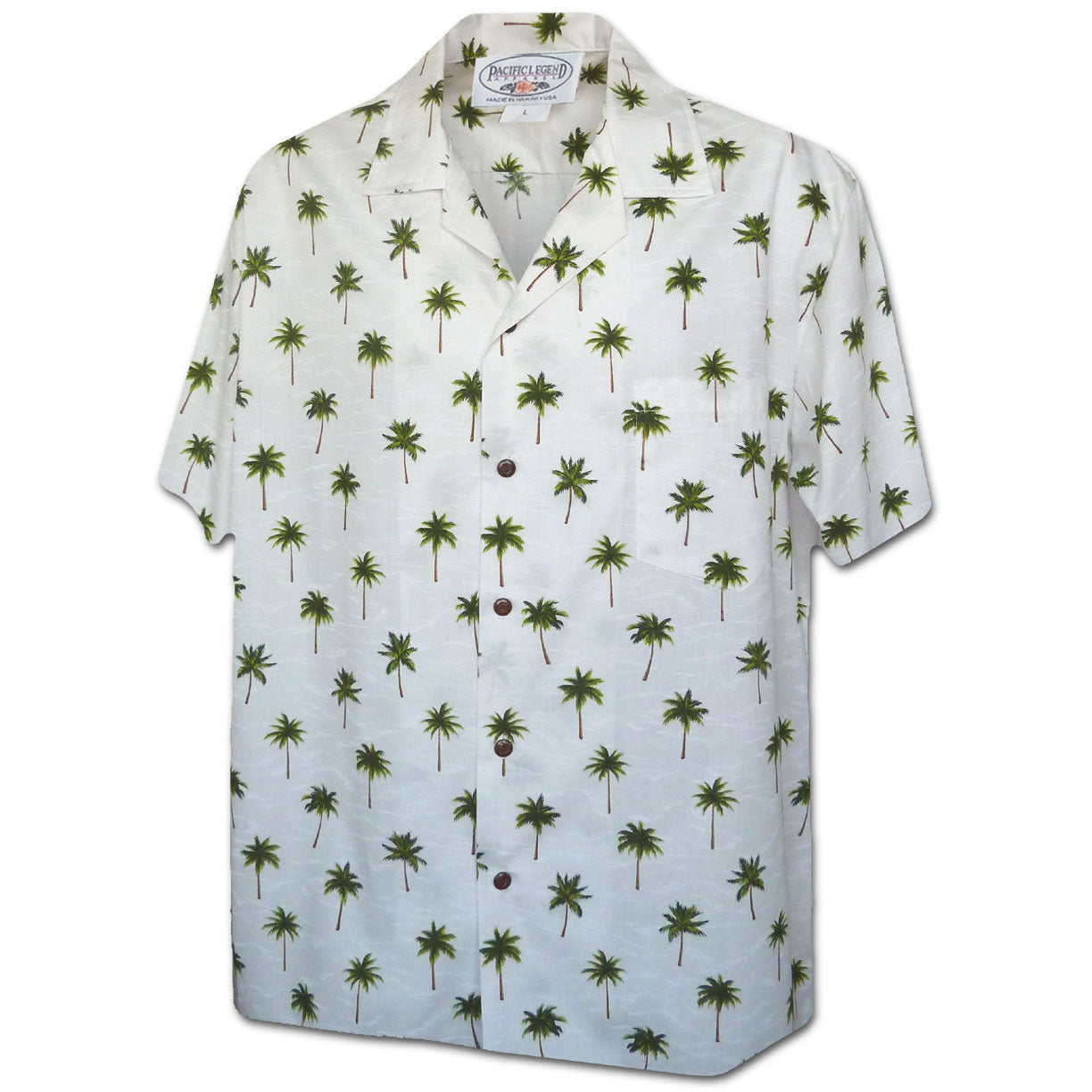 Palm Tree Matrix Green Hawaiian Shirt