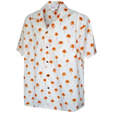 Palm Tree Matrix Orange Hawaiian Shirt