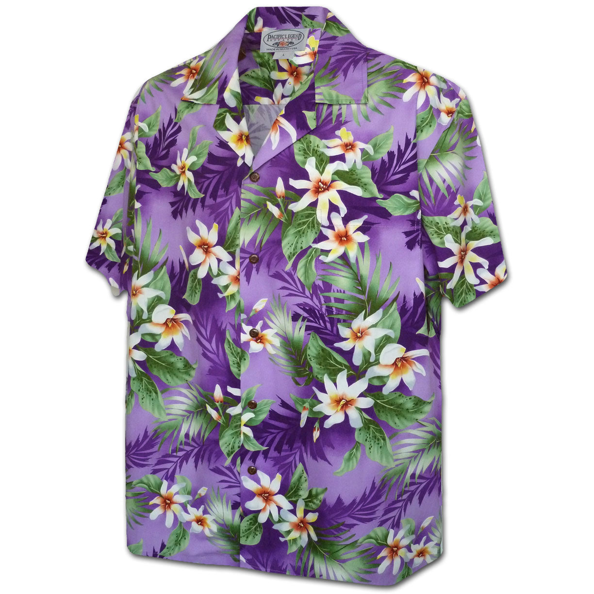 Vibrant Flower Purple Hawaiian Shirt