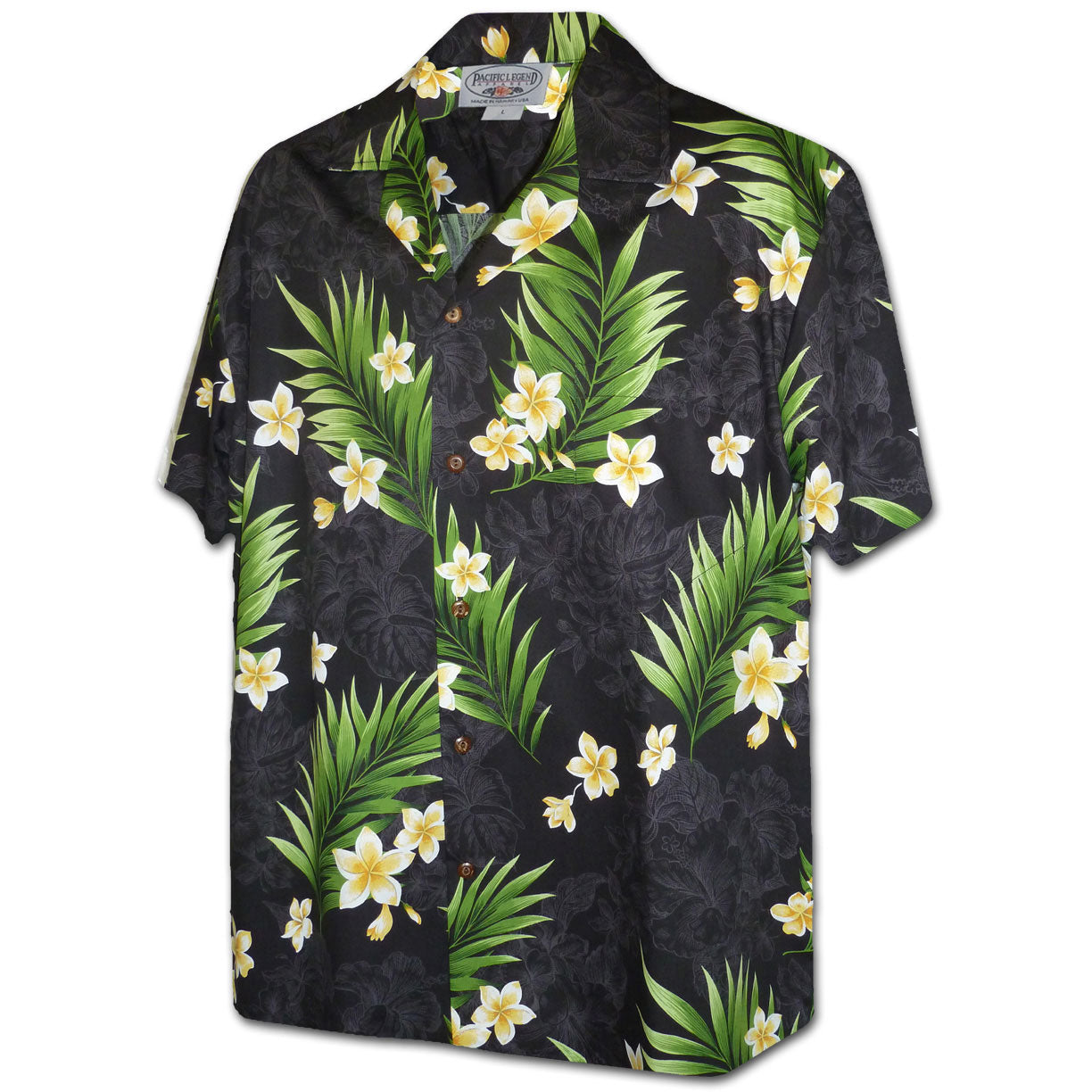 Garden Shadows Black Hawaiian Shirt
