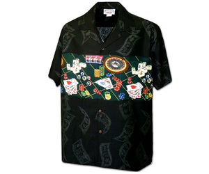 Vegas Baby Black Hawaiian Shirt