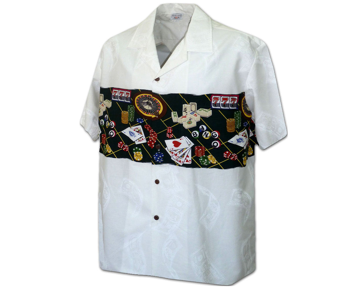 Vegas Baby White Hawaiian Shirt
