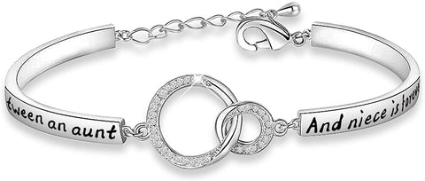 silver bracelet gift from a niece to an aunt living overseas