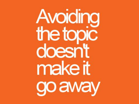 """""""avoid the topic"""" is bad relationship advice"""