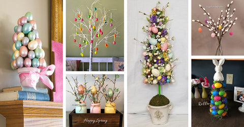 easter egg tree decorations - various
