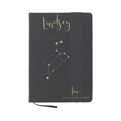 zodiac journal customized with sign and name