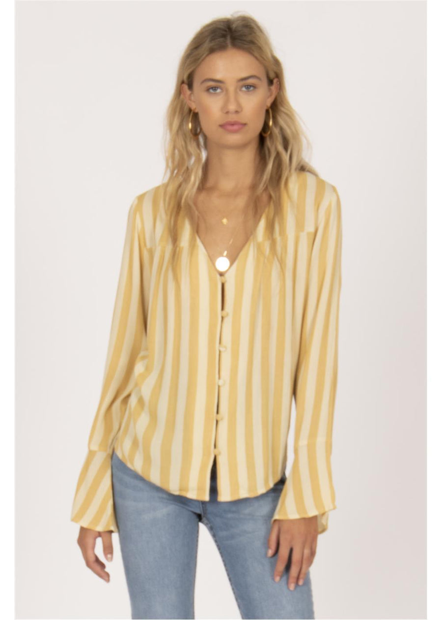 ALWAYS SOMETHING LONG SLEEVE BUTTON UP WOVEN-GGR