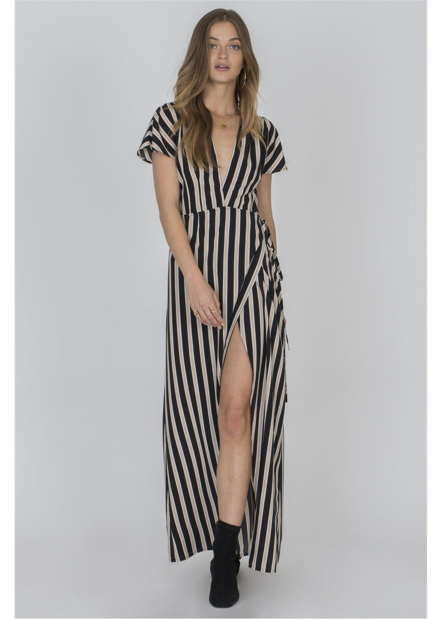 FIT TO BE TIED DRESS-BLK
