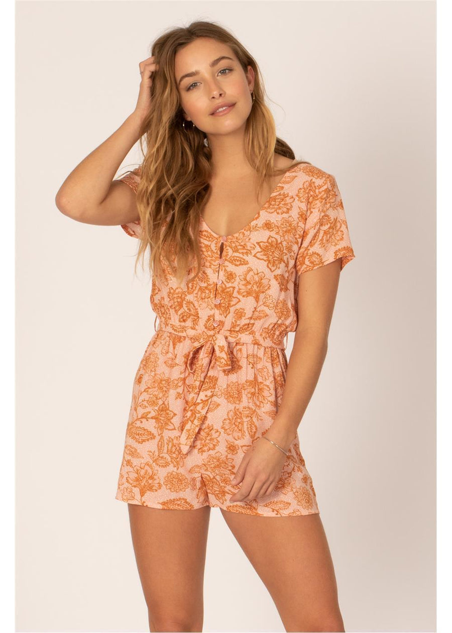 MAKE ME WONDER WVN ROMPER-PEA