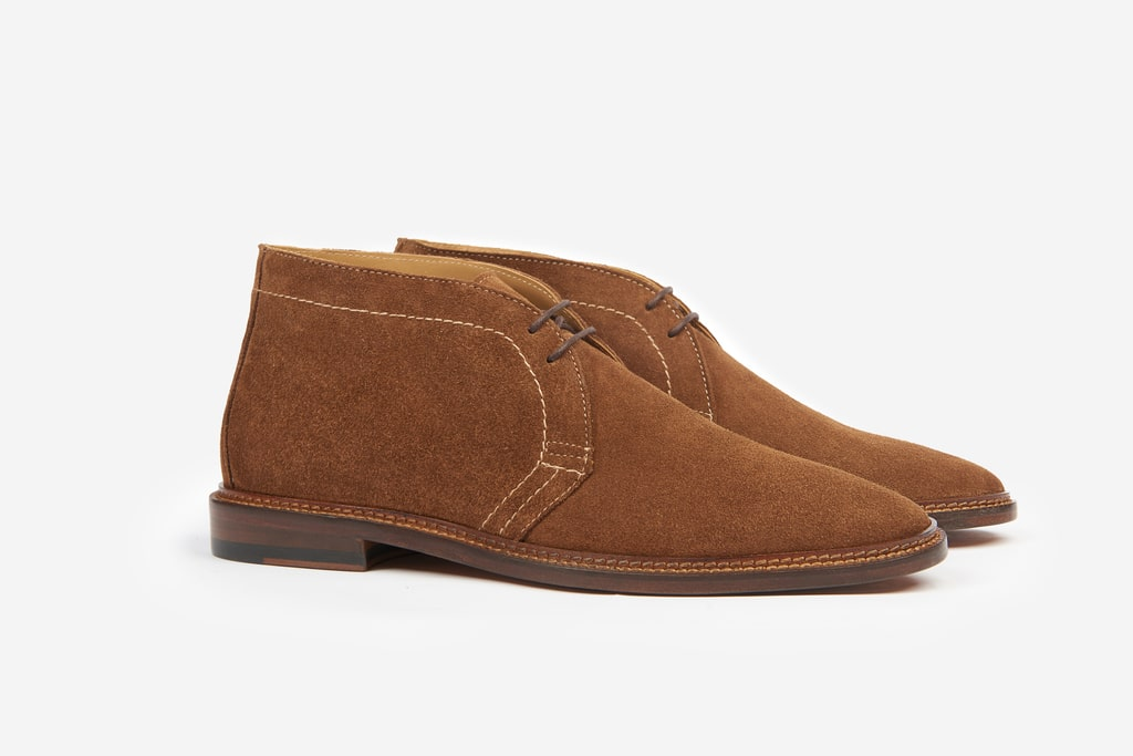 Suede Leather Light Brown Chukka Boot Casual Men Shoes