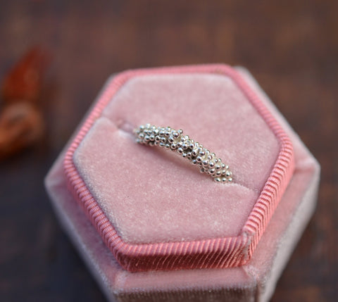 Silver Granulation Ring