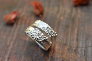Double Band Silver Ring, Size O-P.