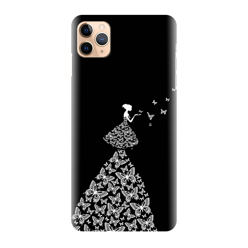 Black Fancy Doll Pattern Printed Back Cover