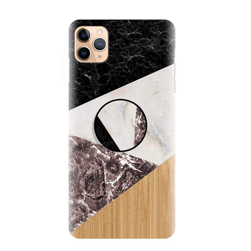 Black Marble Printed Back Cover