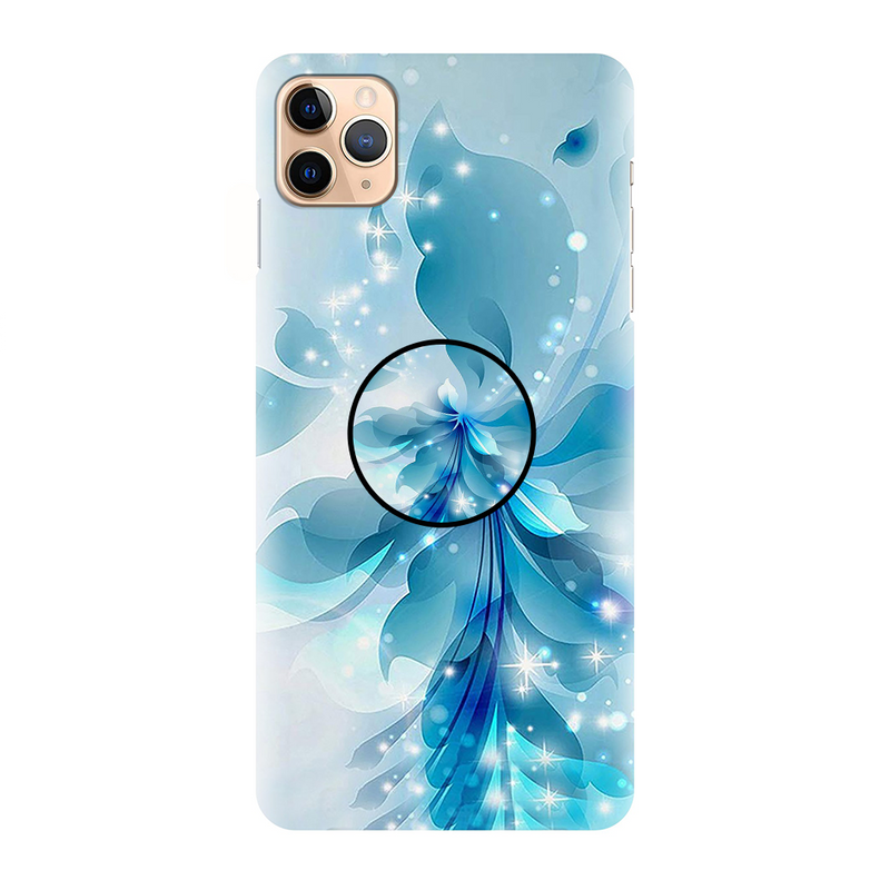 Blue Simple Flower Pattern Printed Back Cover