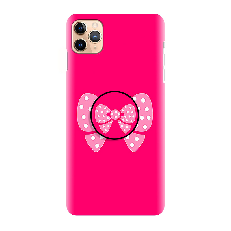 Pink Cute Simple Printed Back Cover