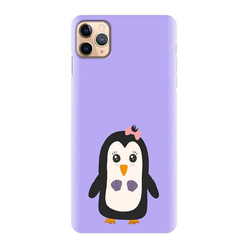Purple Cute Simple Design Printed Back Cover