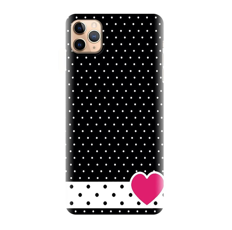 Black Simple Pattern Printed Back Cover