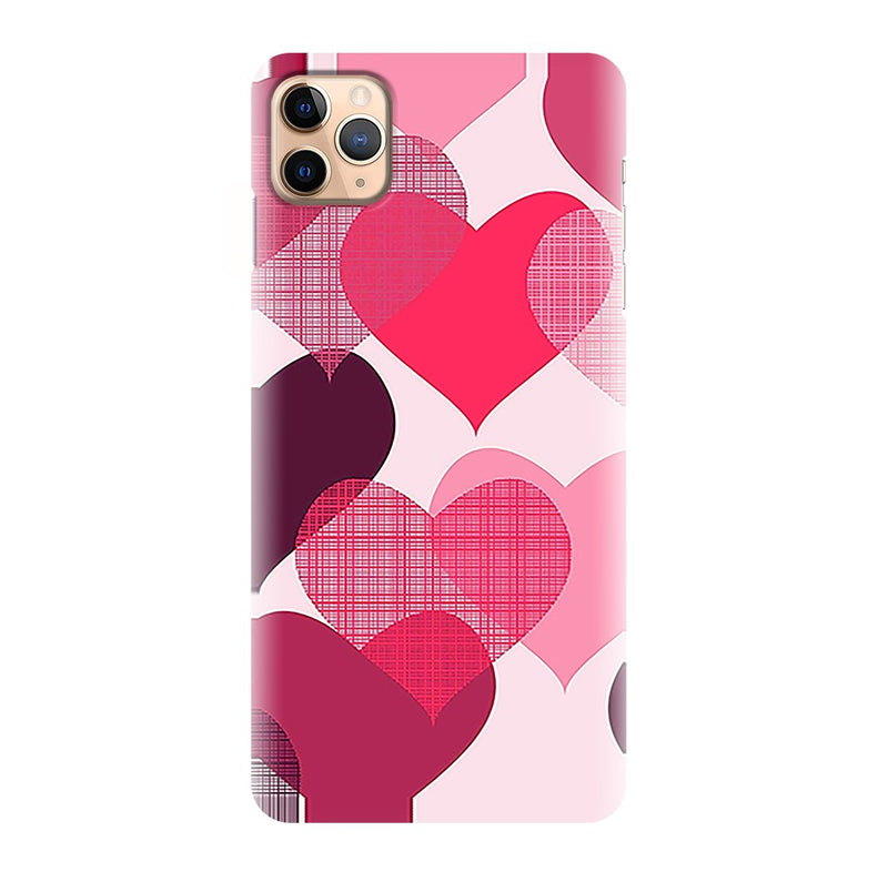 Red Heart Pattern Printed Back Cover