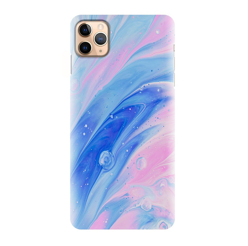 Blue Pink Marble Printed Back Cover