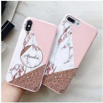 Marble Family Slim Case Cover With Holder In 2 Different Styles